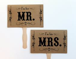 mr and mrs wedding signs mr and mrs wedding sign photo prop