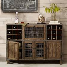 sideboard cabinet with wine storage industrial rustic liquor storage wine rack wood buffet cabinet with