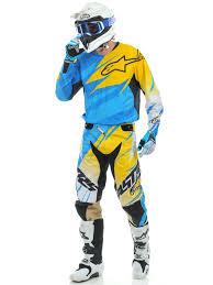 2014 motocross gear alpinestars cyan yellow white 2014 techstar mx jersey