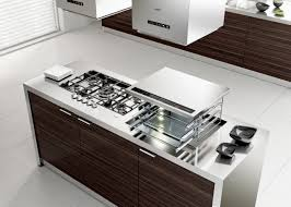 kitchen design white porcelain floor minimalist living white porcelain floor minimalist design living kitchen ideas small striped wood glossy stainless steel countertop island cooktop under square hood