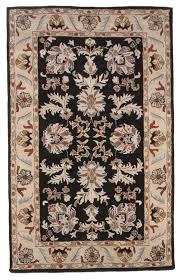 Black Persian Rug Traditional Hand Tufted Wool 5x8 Area Oriental Rug Carpet Antique