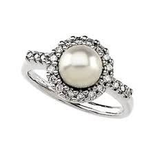 the pearls wedding band various pearl engagement rings the wedding specialiststhe