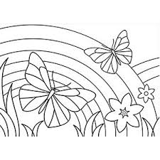 free printable rainbow coloring pages kids