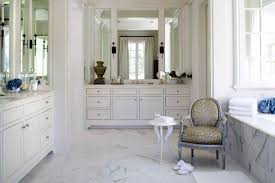 Chair For Bathroom Vanity by Bathroom Comfy Accent Chair Design Feats Large Wall Mirror Idea