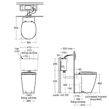 49 standard height shower valve ideal standard concept freedom ideal standard concept freedom back to wall raised height toilet uk