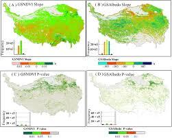 Tibetan Plateau Map Decreased Surface Albedo Driven By Denser Vegetation On The