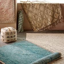 Kilim Storage Ottoman Bedouin Shag Kilim Rug West Elm