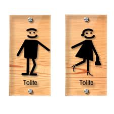 Male Female Bathroom Signs by Male Female Transparent Restroom Signs Toilet Signs 2 63