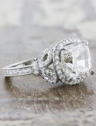 diamond rings vintage images Marigold bow detail halo cushion cut diamond ring vintage jpg