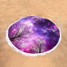 black trees purple magenta space towel for sale by