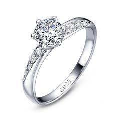 verlobungsring zirkonia edler damen ring zirkonia stein solitär ring verlobungsring 925