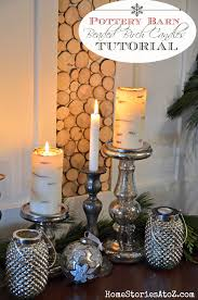 Pottery Barn Pillar Candles How To Make Painted Birch Tree Candles Pottery Barn Knock Off