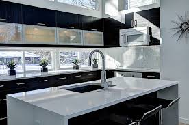 Cherry Espresso Cabinets Espresso Cabinets Kitchen Contemporary With Waterfall Edge Modern