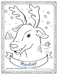 rudolph red nosed reindeer coloring kids download 2440