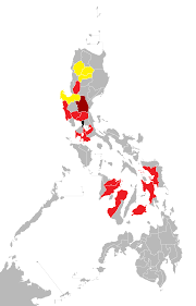 Philippine Map File Influenza A H1n1 Map Of The Philippines Png Wikimedia Commons