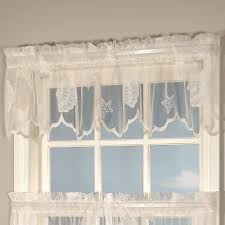seashells lace window treatment