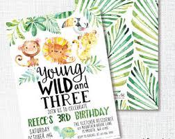 3rd birthday invite etsy
