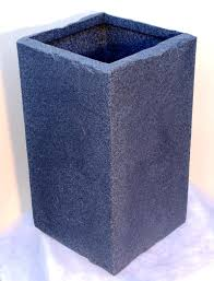 tall square stone effect planter 33cm top topiary pots