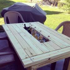 Cooler Patio Table Patio Table Wine Cooler