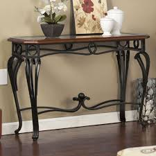 wood and iron sofa table sofa table design wrought iron sofa table astonishing glam console