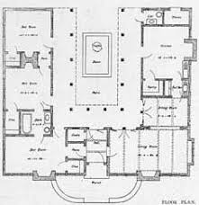 U Shaped House Plans With Pool In Middle Small House Plans Courtyard Ranch Houses House Plans вђ U201c Home