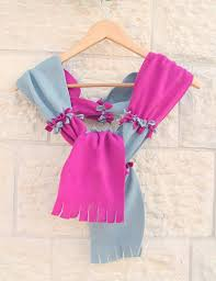 no sew fleece paneled scarf kids can make creative jewish mom