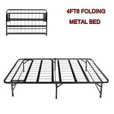 Camping Folding Bed Double Folding Bed 4ft6 Metal Bed Frame Guest Camping Bedstead