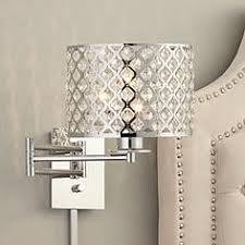 Plug In Crystal Chandelier Plug In Wall Lamp And Sconce Styles Lamps Plus