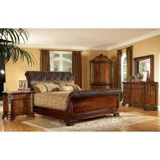 Sleigh King Size Bed Frame Wonderful King Size Sleigh Bed With Mirror Dresser Set King Beds