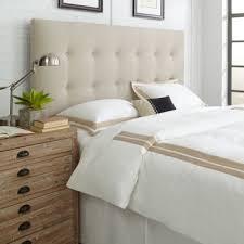 319 99 danielle queen full upholstered headboard in denton beige
