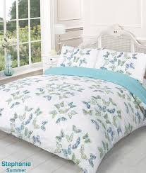 striped super king size duvet cover bed set teal green amazon