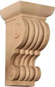 Mission Style Corbels Cleveland Corbel Carved Wood Fluted Pilaster Corbels