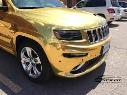 jeep grand customization gold chrome jeep grand srt8 vehicle customization shop