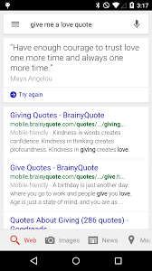 Age Love Quotes by Google Gets Romantic Sits Behind You And Whispers Love Quotes In