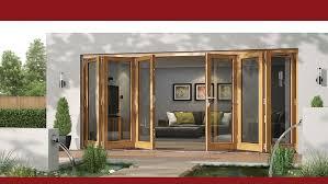 Wooden Bifold Patio Doors Exterior Design Inspiring Wooden Folding Door By Jeld Wen