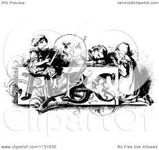 White Victorian Desk by Clipart Vintage Black And White Victorian Writing At A