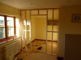 How To Build An Interior Wall Building A Stud Wall Step By Step With A Door Non Load Bearing