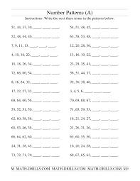 pattern grading easy number patterns worksheet 5th grade worksheets for all download
