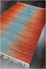 Orange Modern Rug Rugs Curtains Amazing Orange Blue Flat Weave Wool Rug For