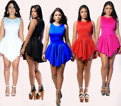 2016 women u0027s plus size skater dress summer irregular hem bandage