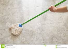 Floor Mop by Woman Scrubbing Floor With A Mop Stock Photos Image 29868333