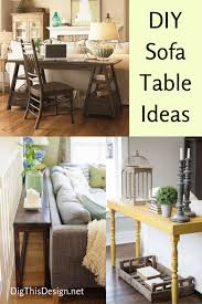 sofa table behind couch diy sofa tables to dress up the back of a couch dig this design