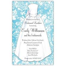 turquoise damask bridesmaids luncheon invitations paperstyle
