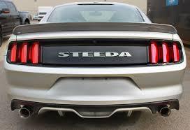 2010 mustang spoiler steeda s550 mustang q series rear spoiler satin black 15 17