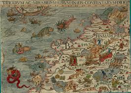 Scandinavia Map Section B Detail Olaus Magnus 1539 Map Of Scandinavia Bell