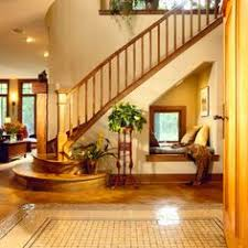 stairwell transformation traditional entry portland by