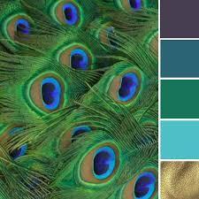 what colors go with green colors go with green peacock color scheme