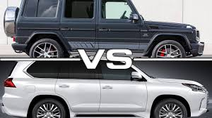 lexus wagon interior 2016 mercedes benz g500 vs 2016 lexus lx570 youtube