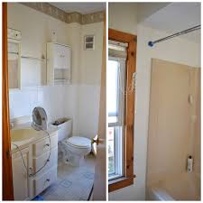 How To Paint Old Bathroom Tile - diy bathroom baseboard heaters and wallpaper borders more to mrs e