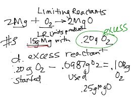 showme skill practice 33 limiting reactants